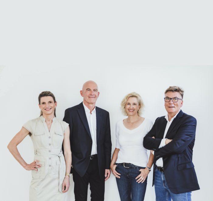 V.l.n.r.: Hanna Tempelhagen, Michael Merks, Susanne Thüner, Karsten Dröge