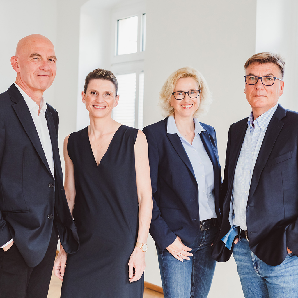 V.l.n.r.: Michael Merks, Hanna Tempelhagen, Susanne Thüner, Karsten Dröge